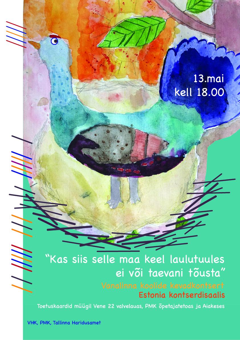 Kevadkontsert 13.mail kell 18.00 Estonia kontserdisaalis