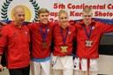 Karateklubi NÜKE tublid saavutused Jaapani Karate Shoto Föderatsiooni Continental Cup 2017 võistlusel Belgias, Hasseltis