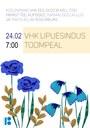 VHK lipuesindus Toompeal 24. veebruaril