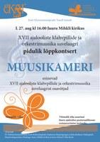 XVII ajalooliste klahvpillide ja orkestrimuusika suvelaager Juurus 24.-27.august 2016