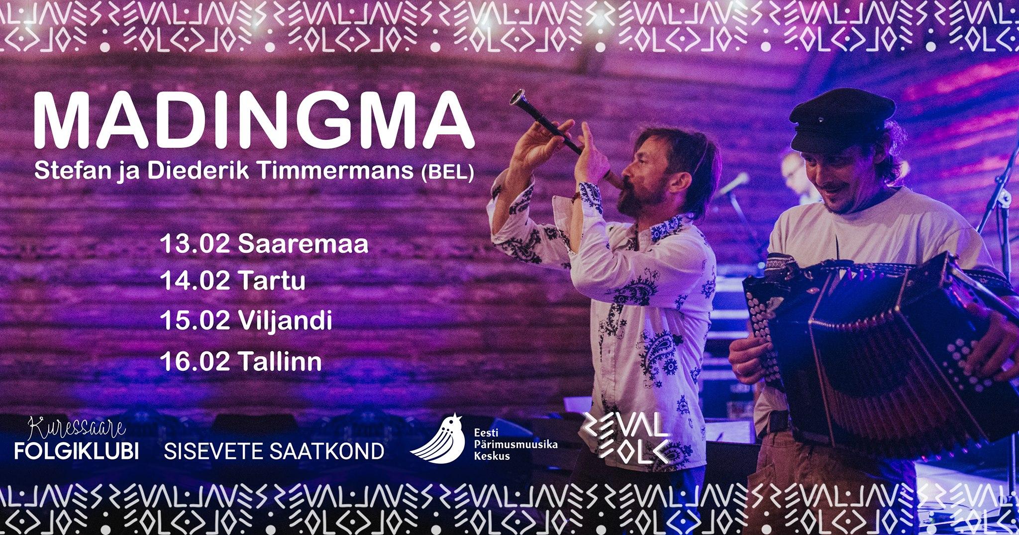 16. veebruaril kell 19:00 Muusikamajas vennad Timmermansid Belgiast