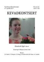 Elisabeth Egeli kevadkontsert 27.aprillil 2017 kell 17:00 Vanalinna Muusikamajas