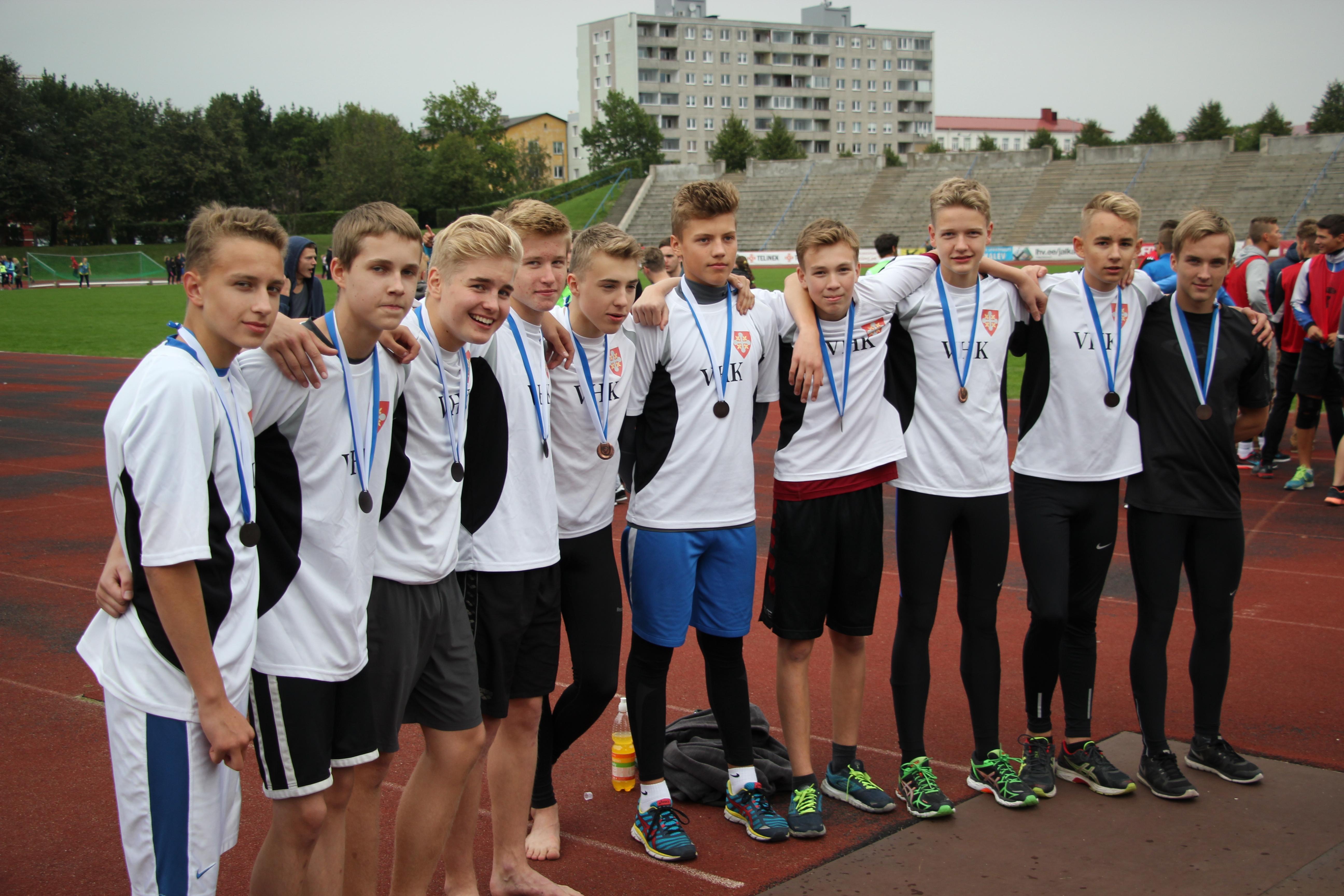 Põhikooli poisid Tallinna koolinoorte teatejooksude meistrivõistlustel kolmandad!